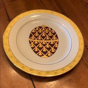 Muirfield 9408 Celebrity Gold Faberge Egg Plate